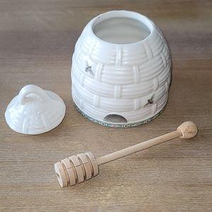 NEW Pfaltzgraff Portfolio Naturewood honey pot/dip